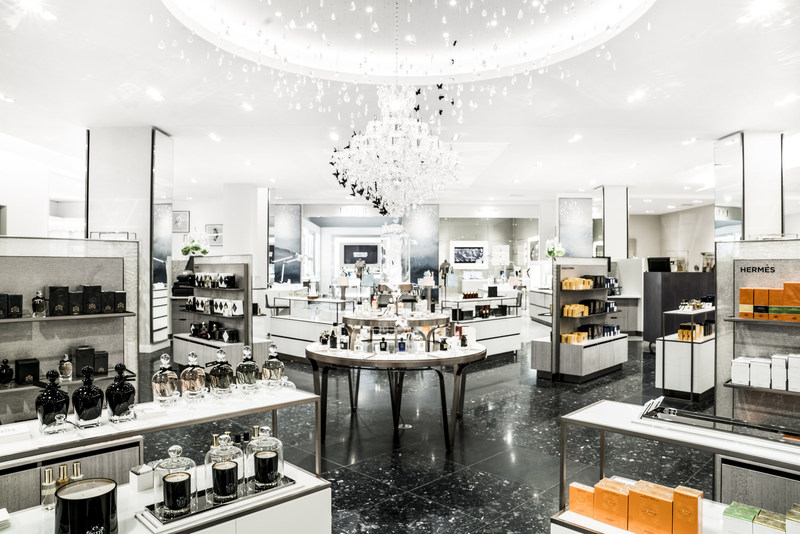 Beauty department at Saks Fifth Avenue in Calgary