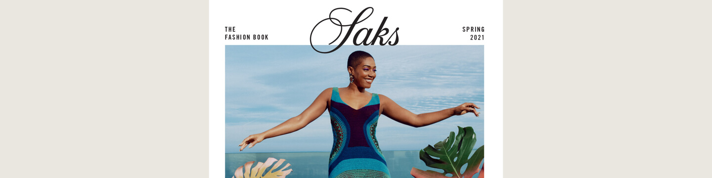Saks Women's Spring Book with Tiffany Haddish Cover
