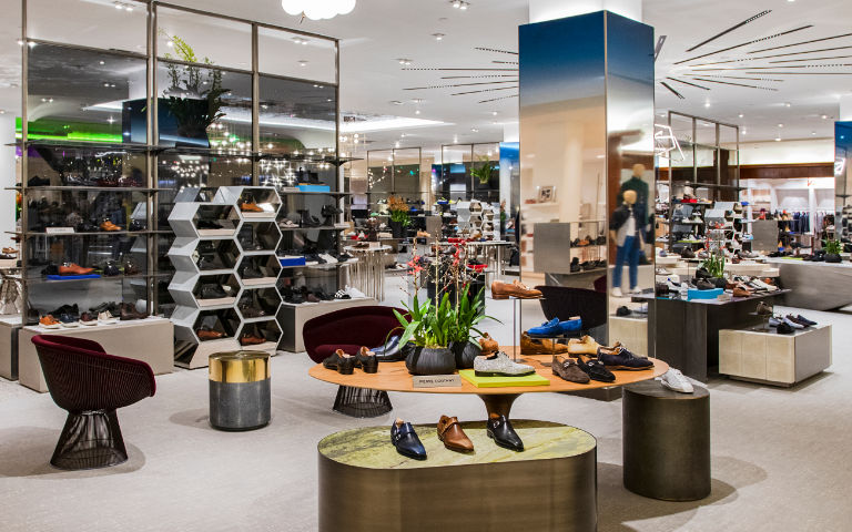 Saks Fifth Avenue Men's Shoe Experience At New York City Flagship